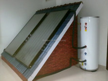 The split pressurised free standing flat plate collector solar water heaters