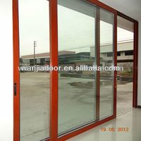 powder coated aluminum sliding door/glass sliding doors