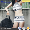 Custom Printed High Waist Push Up Bikini Set 2017