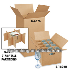 Clear wine glass packing corrugated box
