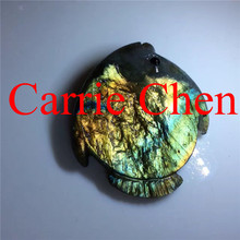 Wholesale labradorite 100% hand carvings cute fish