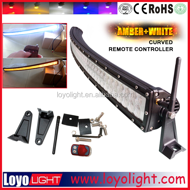 50inch 288W led lightbar 6000k used amber car curved / straight light bars