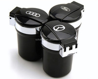 portable auto car led ashtray with car logo