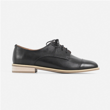 T006 New style black leather vintage school oxford shoe