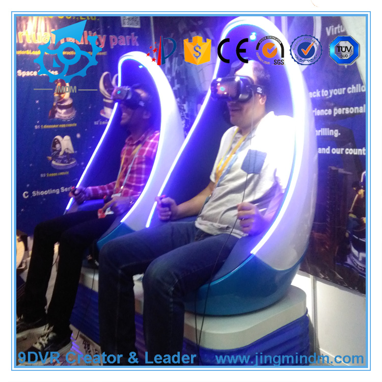 Virtual Reality Amusement Park Equipment VR Egg Flight Cinema 3 Dof motion platform for sale