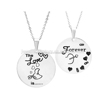 Matching love forever couples pendant necklace