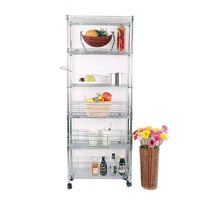 side standMetal Muti layers wire shelves refrigerator
