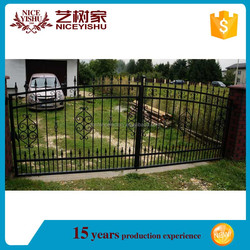 Factory price latest cheap samples of steel gate/modern steel gates designs/iron pipe gate designs