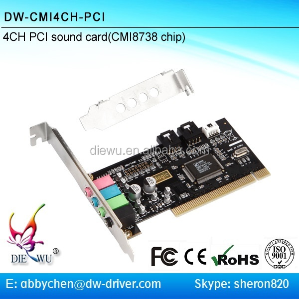 CMI8738 Chipset PCI Sound Card 4 channel Pci 3D audio sound card
