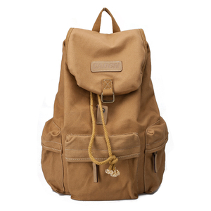 Custom waterproof brown camping hiking muiti-function canvas dslr camera backpack