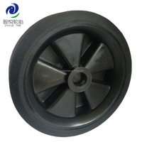 4 inch small solid rubber wheel for shopping cart, trolley