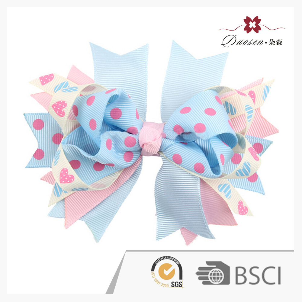 "Best-Selling Custom Design Boutique Girl Infant Baby 3"" Hair Bows Grosgrain Ribbon Clip"