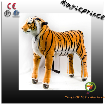 Best selling!!!walking mechanical horse pony toys, human powered tiger toy, ride toys 10 year olds kids