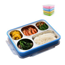 304 stainless steel leakproof lunch box with compartment