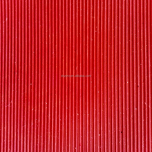 3mm Thickness SBR CR durable using red fine wide rib rubber sheeting roll corrugated rubber matting