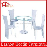 modern fashion elegant round high quality glass dining table