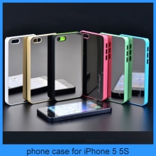 For Apple iPhones PC Plating Metal Mirror Phone Case Cover iPhone 4 iPhone 5 iPhone 5C Three Models Can Choose