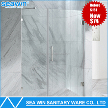 Foshan Custom 304 Stainless Steel Handle chrome Hinge Frameless Clear 10 mm Tempered Glass Bath Shower Door Screen