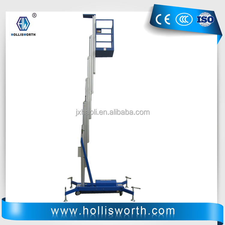 Single Mast Aaerial Manual Aluminium Work Platform /Lift Table
