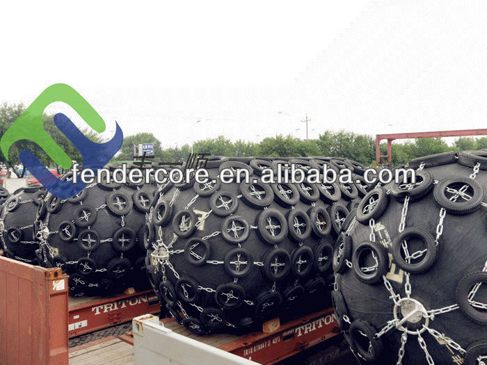 Pneumatic rubber fender for engineering, construction and oil company