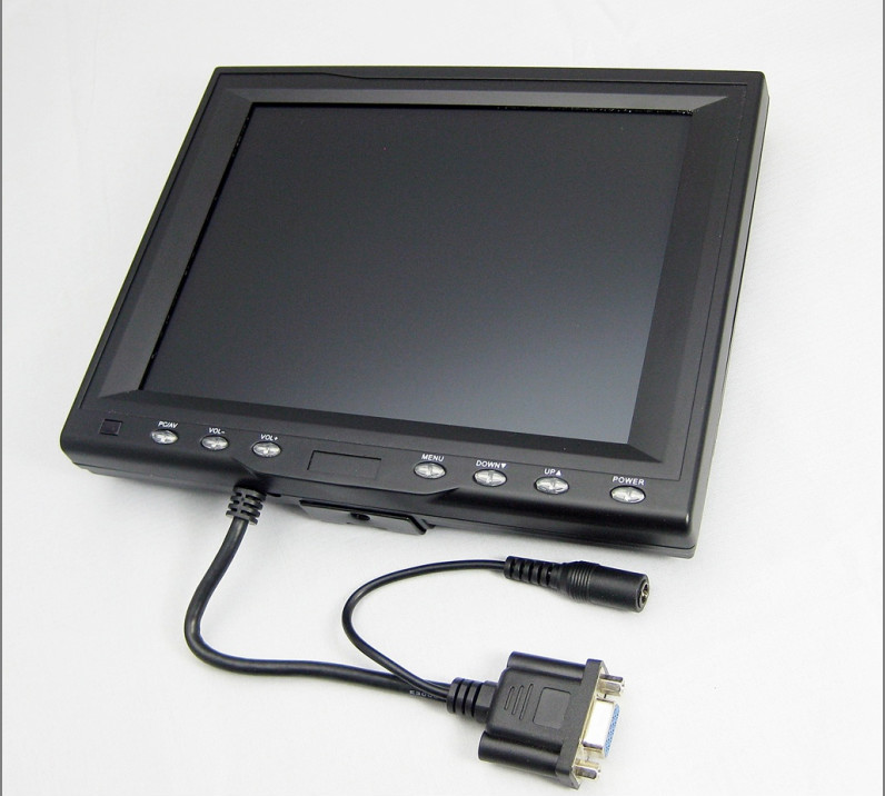"8"" Car PC Color LED Display VGA USB Touch Screen TFT LCD Monitor"