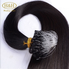 Most fashionable 100% 7a top grade brazilian hair micro loop ring hair fish line hair extension