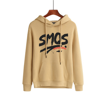 Spring and Autumn Couple Youth Pullovers Letter Printing Casual Cotton Men Hoodie