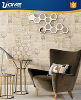 Uhome washable Modern Charm style wallpaper wall paper with Map stamp for home wall coating CA70701