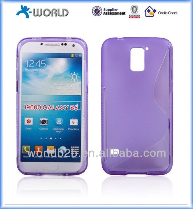 S line TPU Back Case Cover for samsung Galaxy S5, with Streamline & Skidproof design