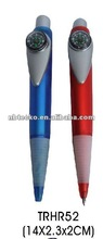 2014 new design office and school plastic ball pen with compass