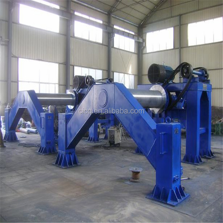 Roller suspension drainage pipe making machine