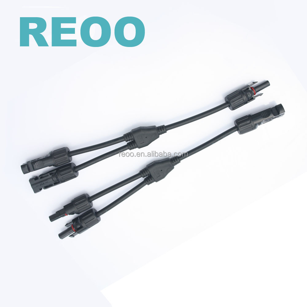 REOO Three Way Connectors Solar Y-Type <strong>1</strong> to 2 MC4 Solar Panels Connector