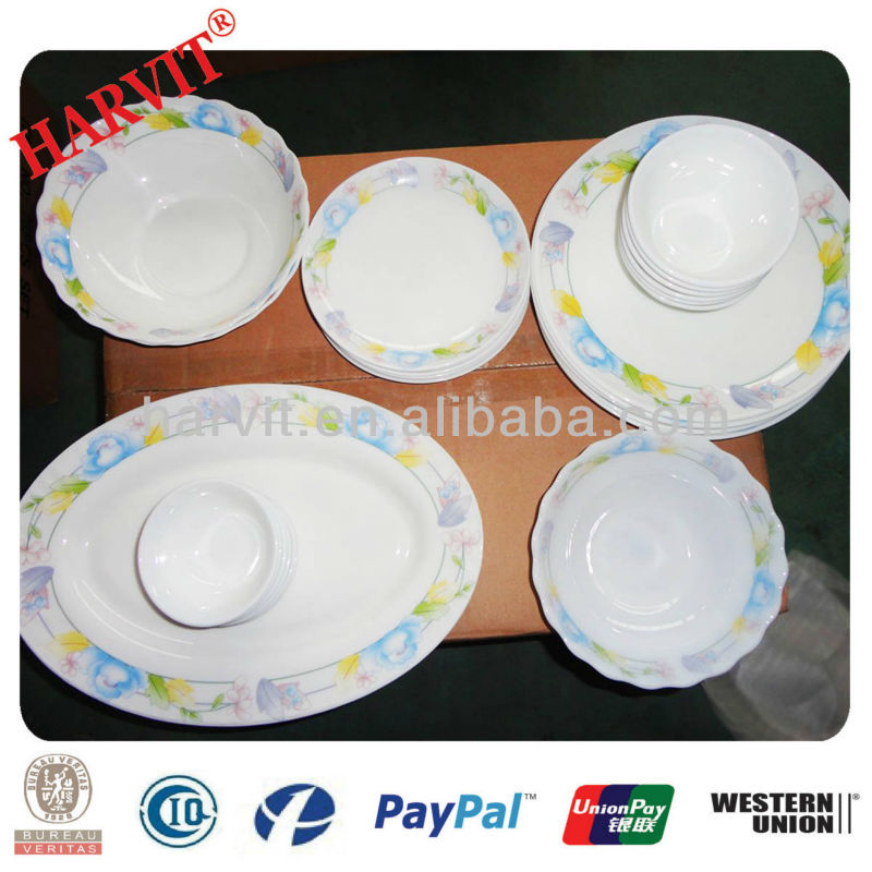 Thermal Shock Proof Wholesale Tableware Turkish Market Opal Ware Glassware Dinner Set Products With Gift Box Packing