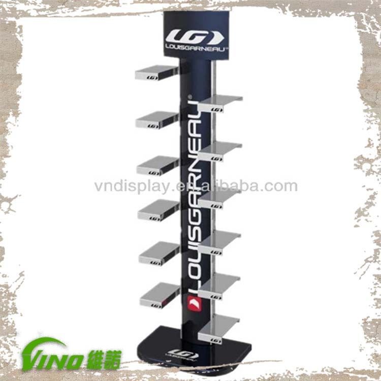 shose display metal display rack floor standing display
