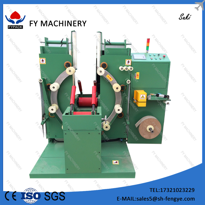 Manual load,all other step automatically, unloading steel wire coil wrapping machine