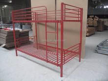 Red bunk bed, red metal bunk bed