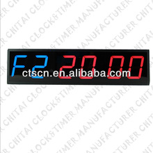 LED for 6 Digit Display Double Color GYM Timer Countdown Timer Digital Wall Clock