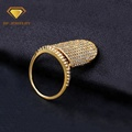 New Products CZ Pave Setting Long Finger Full Nail Rings