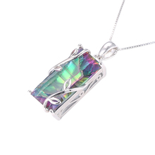 New design style most popular women party gift electroplating stone pendant for women