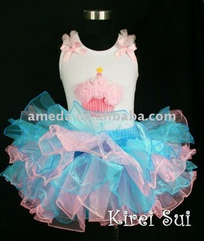 Blue Light Pink Layered Tutu 230