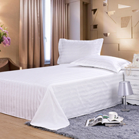 plain white 100% cotton hotel bed sheet