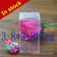 3.8*3.8*7cm Transparent Boxes Clear Plastic Boxes PVC Box With Handle For Party Favors