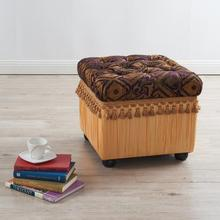 Jennifer Taylor Antique Upholstery Tufted Botton Storage Ottoman for Sale Cheap Home Furniture with High Quality