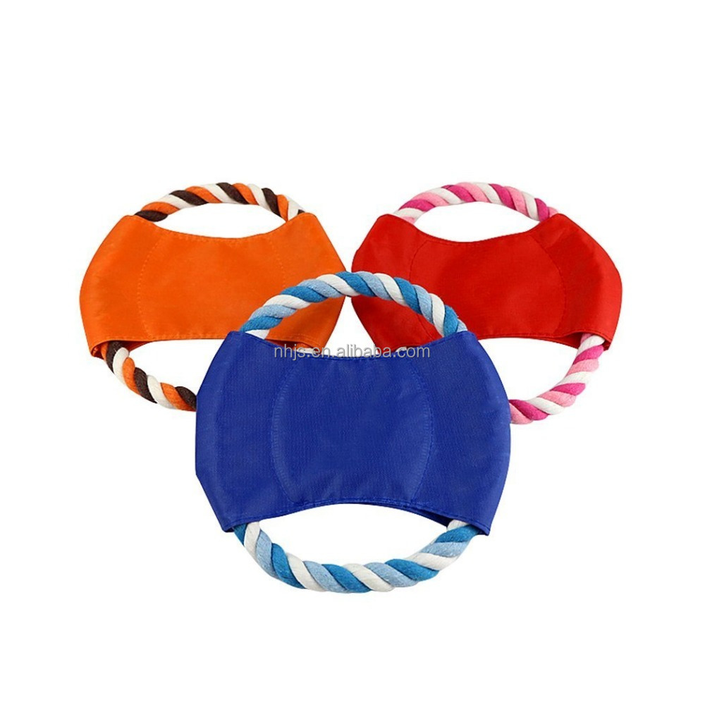 Cotton Canvas Flying Disc Dog Toys Soft Tooth Resistant Training Fetch Toy Play Frisbee Outdoor Fun Soft Flying Disc Toy for Dog