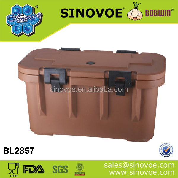 Insulated rotomolded ice cooler box for marine fishing & cold chain transportation