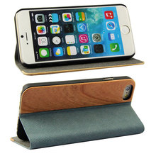 Book style vintage leather wallet folio stand flip case for iphone 6