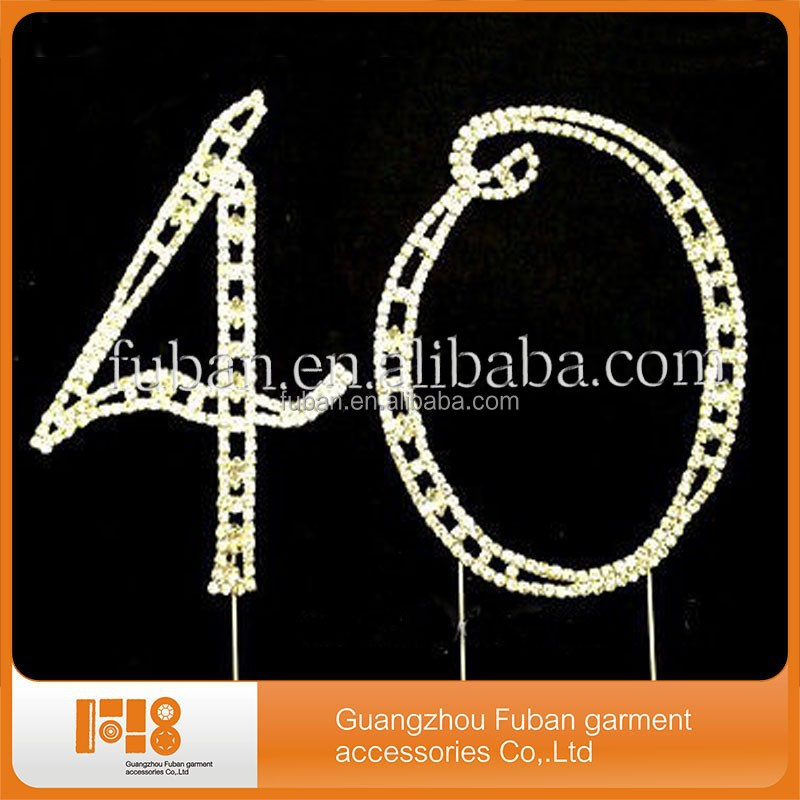 hot selling rhinestone cake topper/party supply/wedding decoration