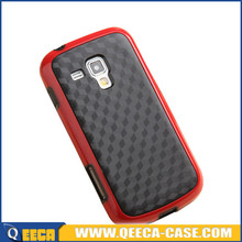 Dual color tpu pc hybrid case cover for samsung galaxy s duos case