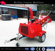 CE certificate Hydraulic feeding 40HP Diesel engine Mobile Wood Chipper
