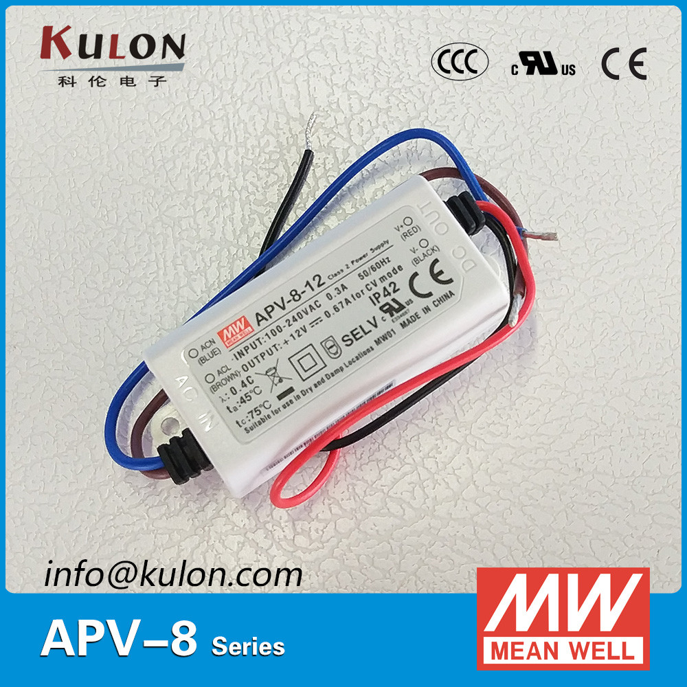 MEAN WELL POWER SUPPLY APV-8E-24 single output 24V led lighting applications